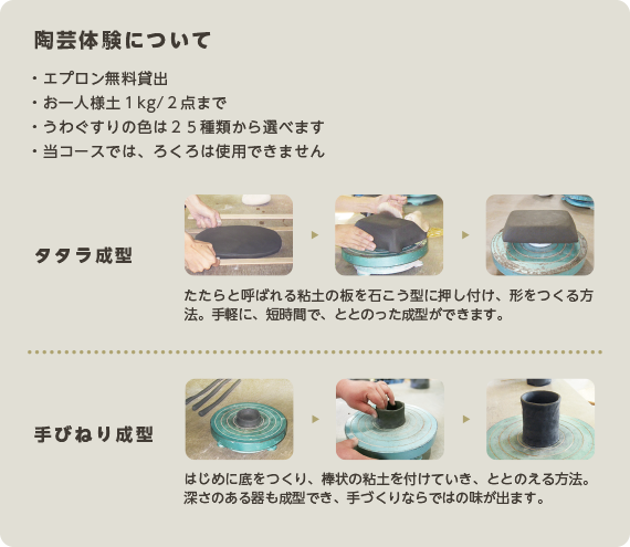 陶芸体験について